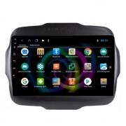 "Central Multimídia Jeep Renegade PCD Tela de 9"" Android GPS Câmera de ré"