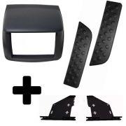 Moldura L200 Triton Para Dvd + Kit Fixação + Par de Pisante Traseiro
