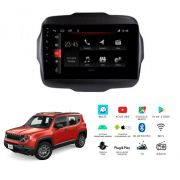 "Multimídia Jeep Renegade PCD 2018 a 2020 Tela 9"" Android Winca"