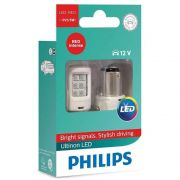 Par De Lâmpada Philips P21/5 Led Vision 2 Polos Red 12v