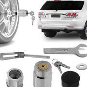 Trava Protetor Estepe Toyota SW4 2006 a 2019 Antifurto com chave tetra