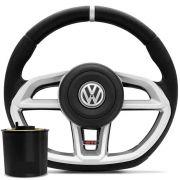 Volante Modelo Golf GTI Prata Gol Parati Saveiro G2 G3 G4 C/ Cubo