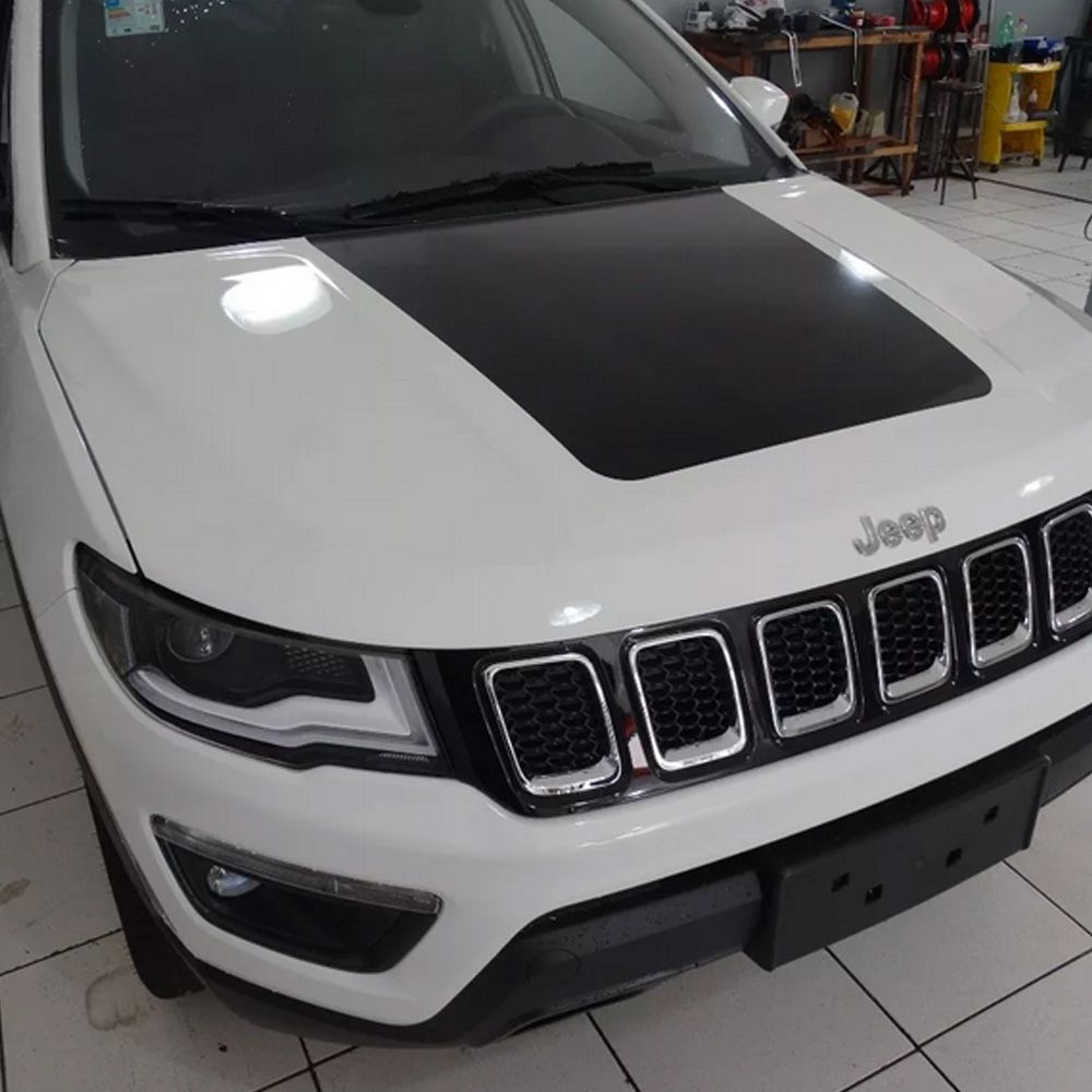 Adesivo Personalizado Capo Para Jeep Compass 2017 2018