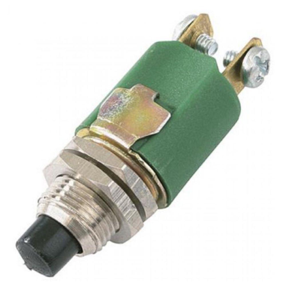 Buzina Ar C/ Compressor 12v Metal Cromada Marítima com botão