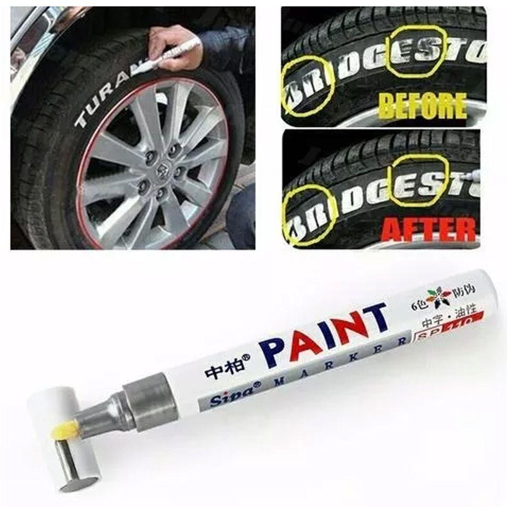Caneta Para Pintar Pneu Branca Paint Marker