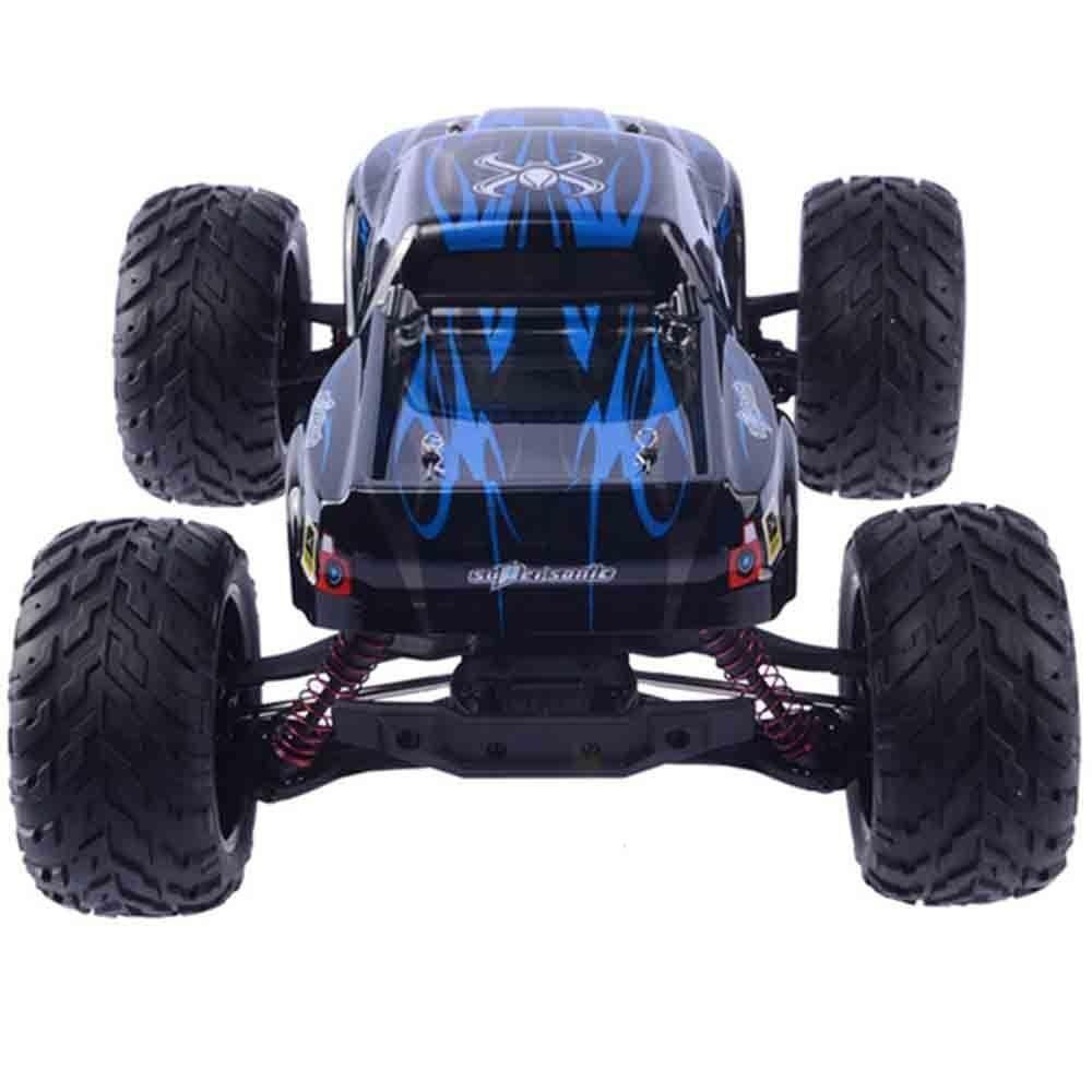 Carrinho Controle Remoto Monster Truck Eletrico Azul C/ 2 Baterias
