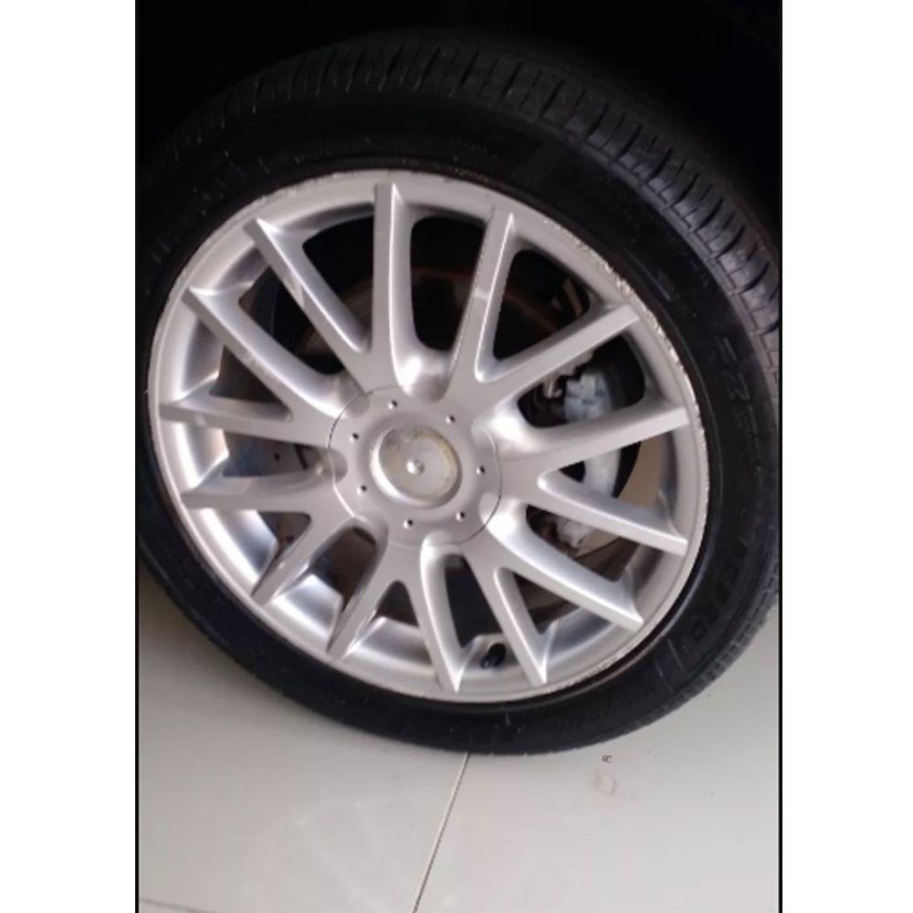 Emblema Volkswagen Alumínio Tampa Jetta Roda Liga 78mm -1 Pç