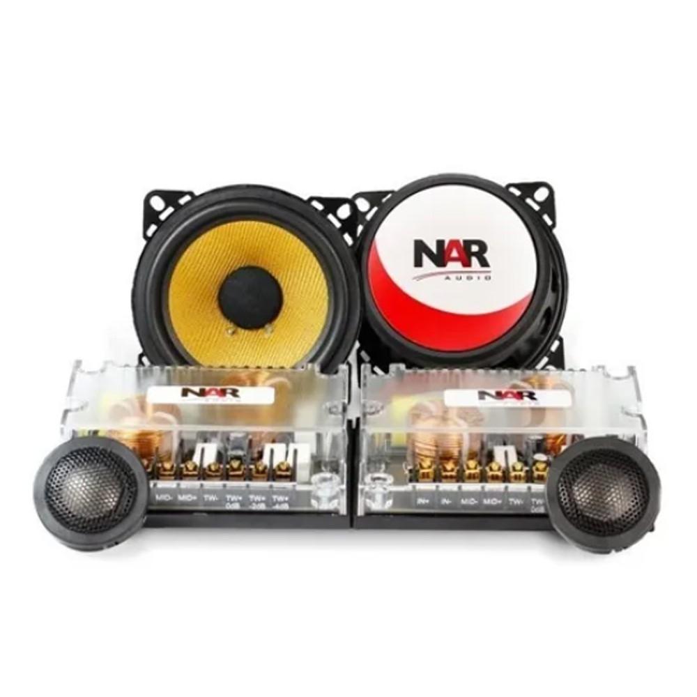 Kit 2 Vias Nar Audio Kevlar 4'' Polegadas 400cs3 120w Rms