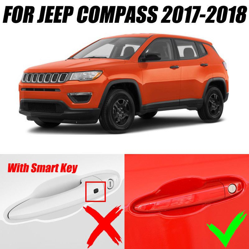 Kit Capa Aplique Maçaneta Jeep Compass Cromado 4 Portas