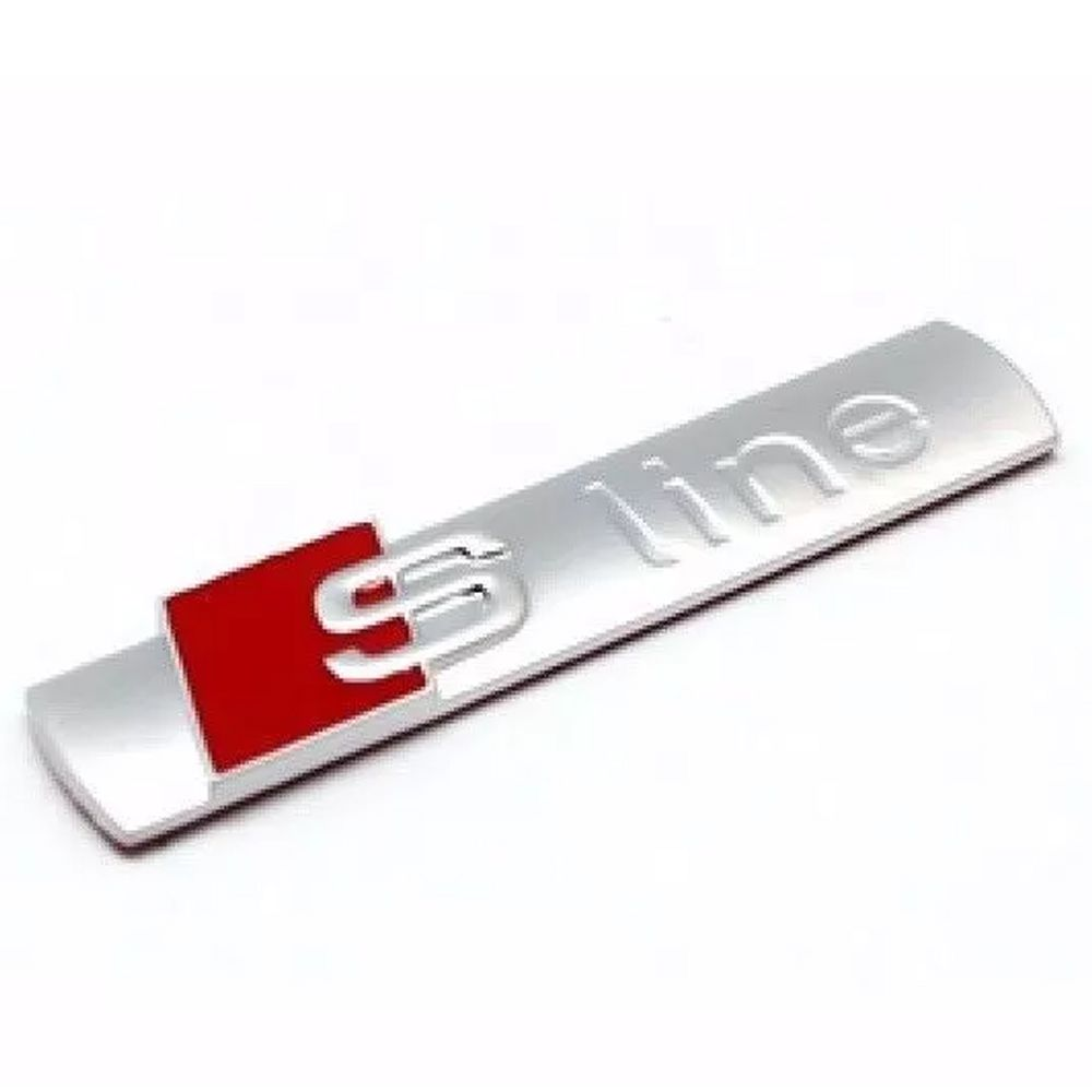 Kit Emblema S-line Audi Grade Frontal Porta Malas E Paralama