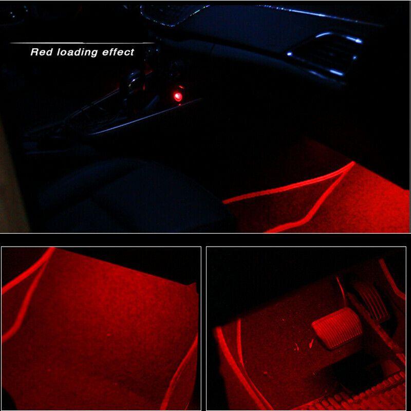 Kit Led Interior Luz Vermelha 12v Tuning