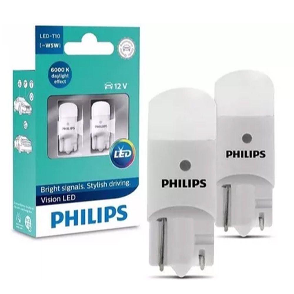 Lâmpada Led Philips Pingo Lanterna 6000k Branca T10 W5w