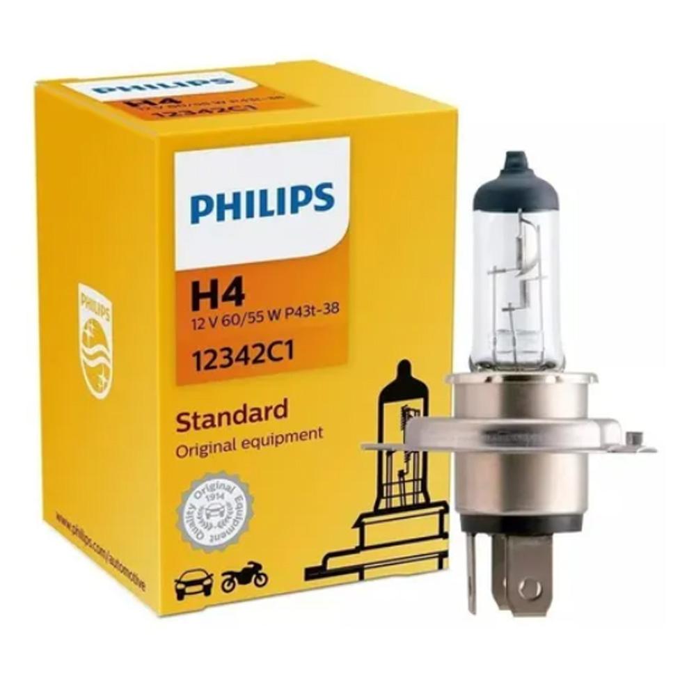 Lâmpada Philips Halogena H4 12v 60w / 55w Standard 12342c1