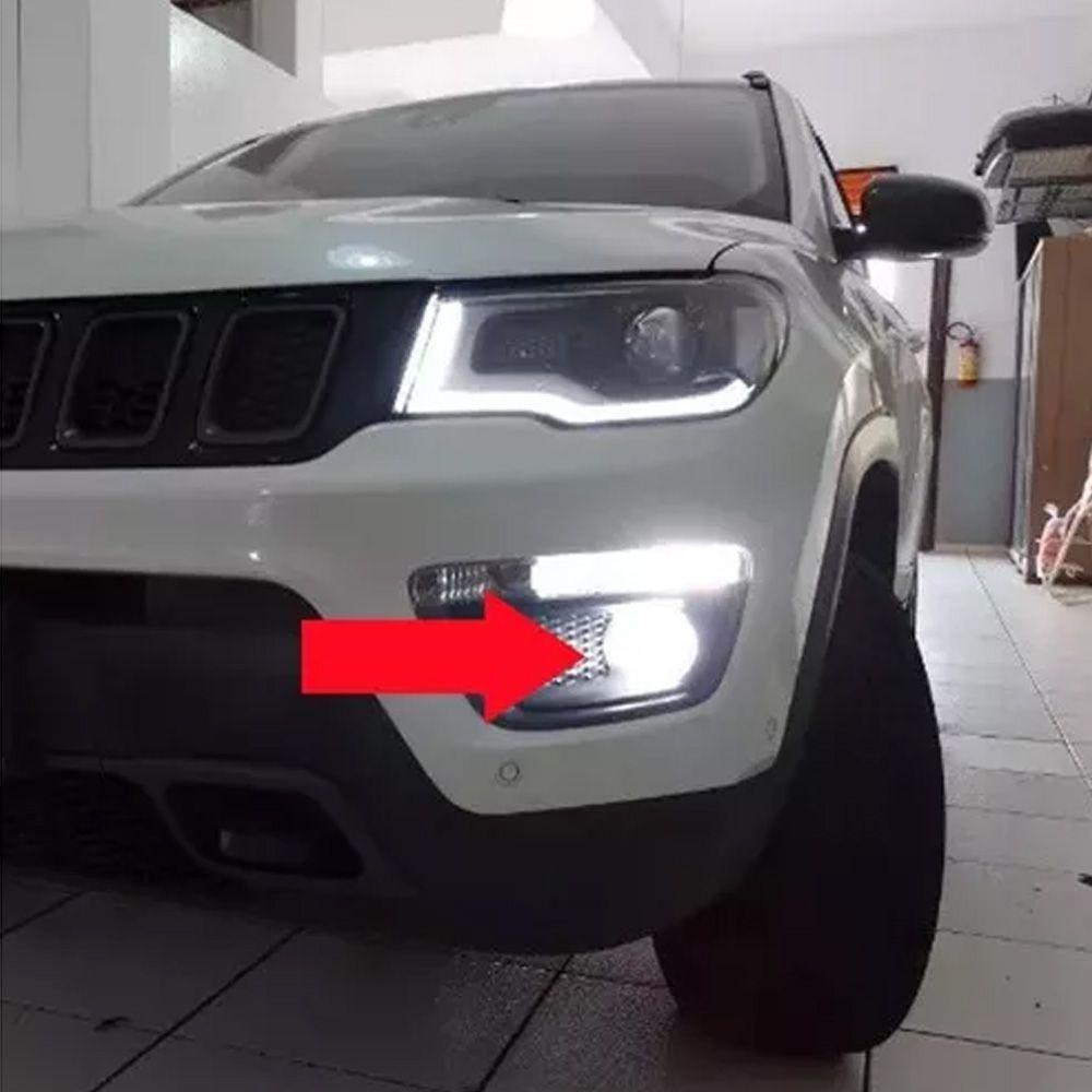 Lâmpada Super Branca H11 8500k Diurna Milha Jeep Compass