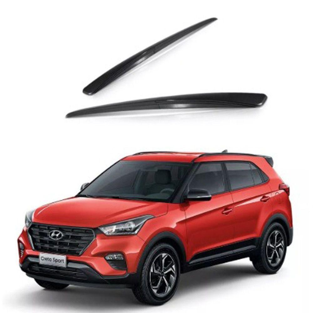 Longarina Teto Rack Hyundai Creta Preto Suns 2016 A 2019