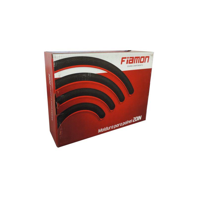 Moldura 2 Din Fiat Mobi Black Piano Fiamon