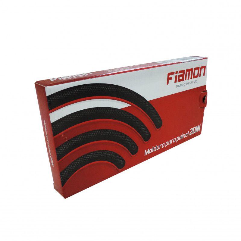 Moldura Painel 2 Din Black Piano Para Fiat Toro/Mobi/Uno Fiamon