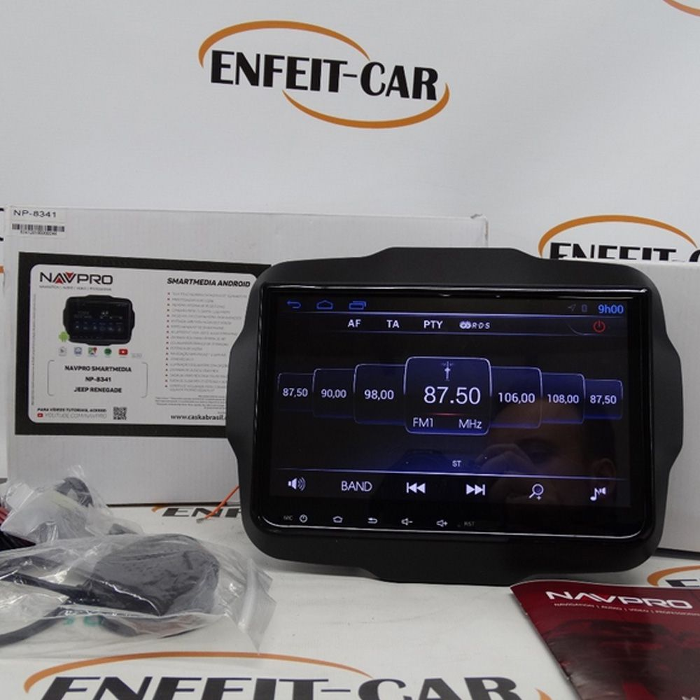 Multimídia Caska Navpro Android Jeep Renegade (PCD) 9´´touch