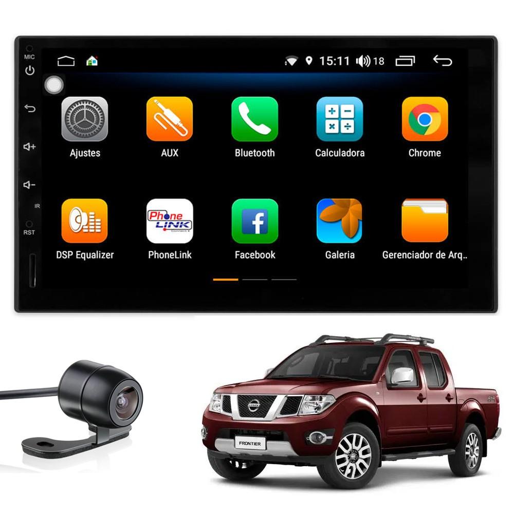 Multimídia Frontier 2008 2009 2010 2011 2012 2013 2014 2015 Tela 7'' Android 9.0 Gps Câmera de ré e Frontal TV Digital 2GB Aikon