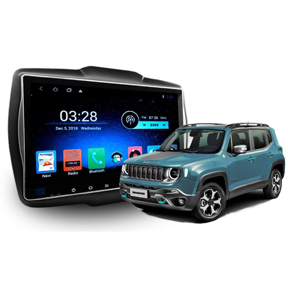 Multimídia Jeep Renegade Hetzer Tela 10 Pol Android 8.1 (TODOS)