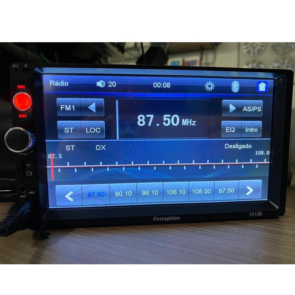 Multimidia Mp5 Bluetooth Camerá De Ré Usb Tf Espelhamento