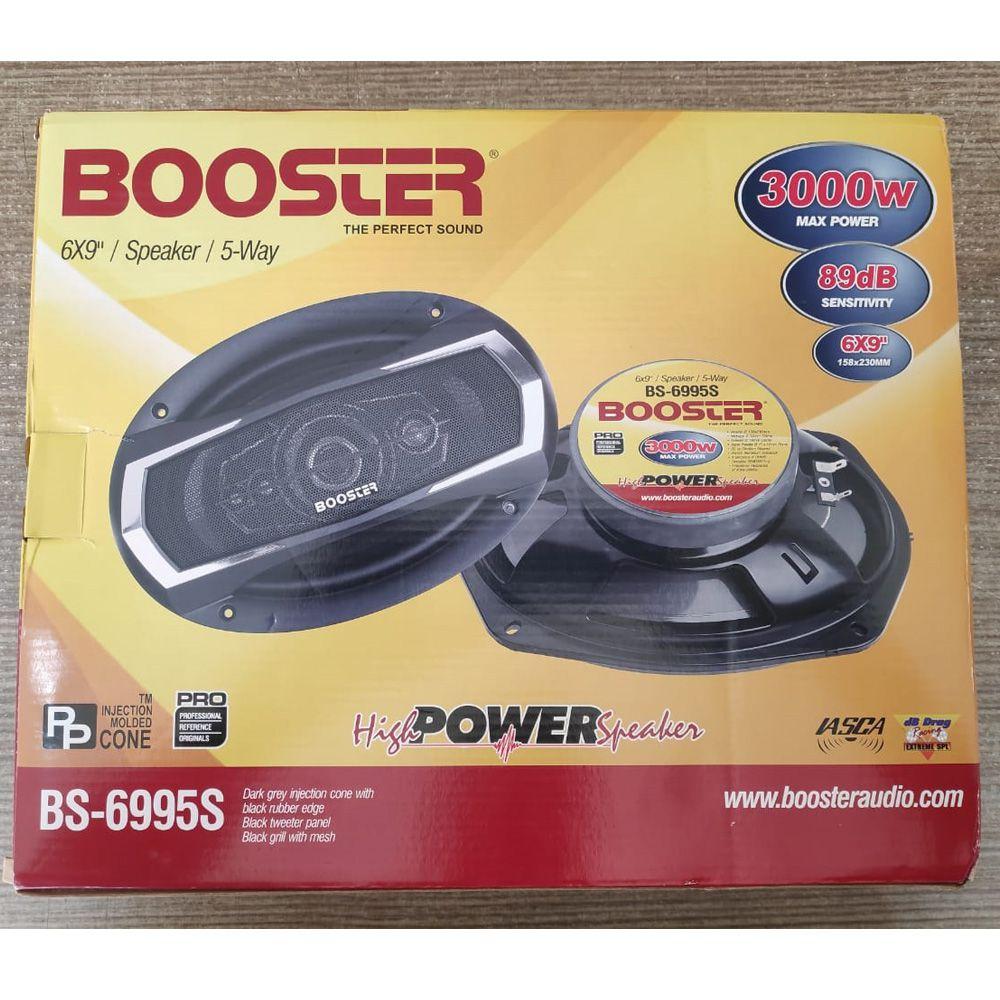 Par Auto Falantes 6x9 Booster Bs 6995s 560rms 5 Vias 4ohms