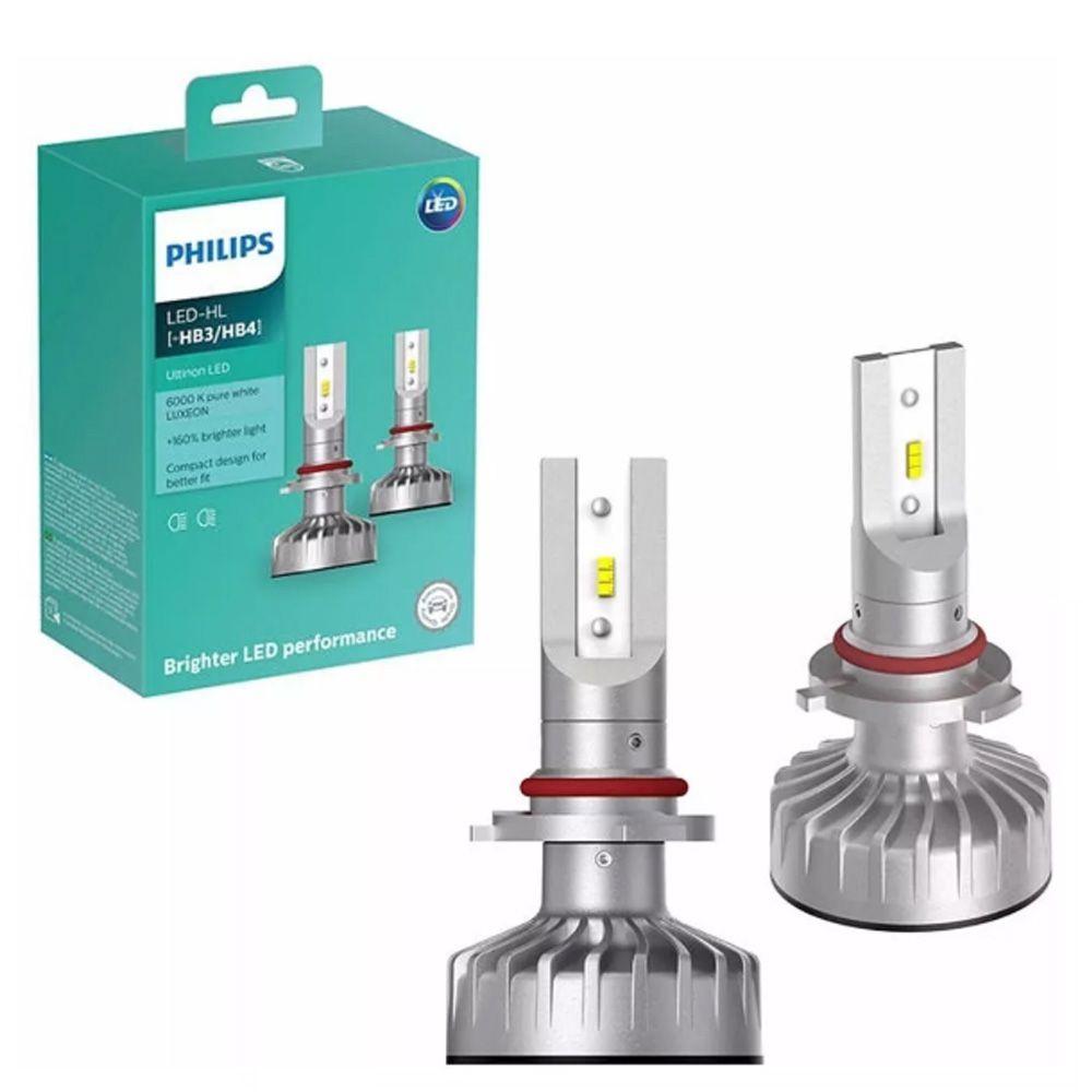 Par Lâmpadas Philips Led Ultinon Hb3/hb4 Luz Branca 6000k