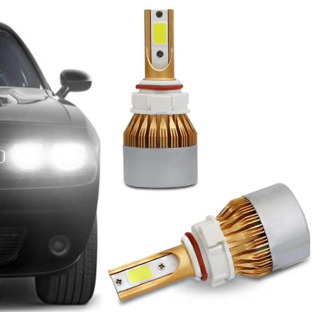 Par Lâmpadas Ultra Led Full H16 6000K 12V e 24V 8000 Lumens