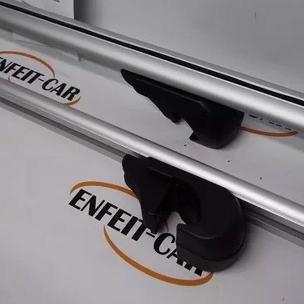 Par Travessas Universal Rack Kiussi Belluno 130cm Prata