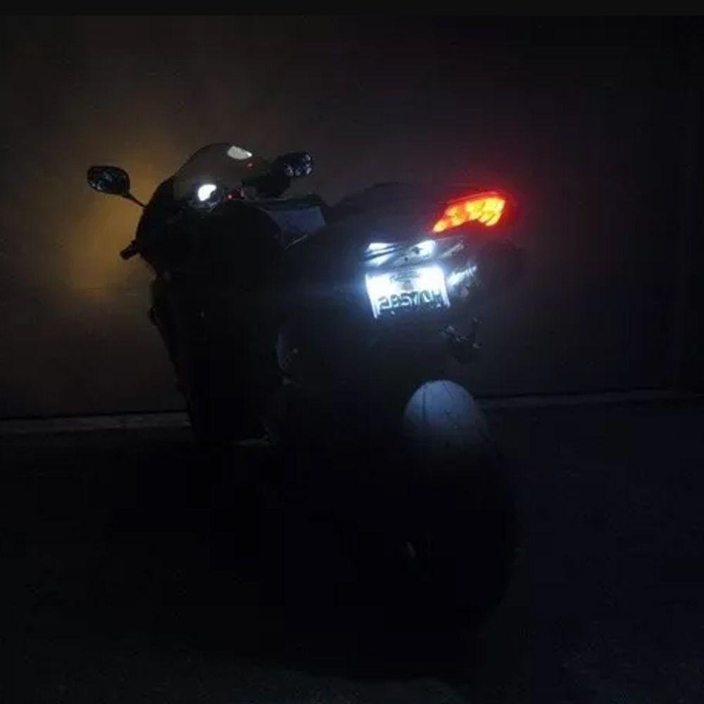 Parafuso Luz Led Branco Placa Moto Ou Carro Super Iluminação