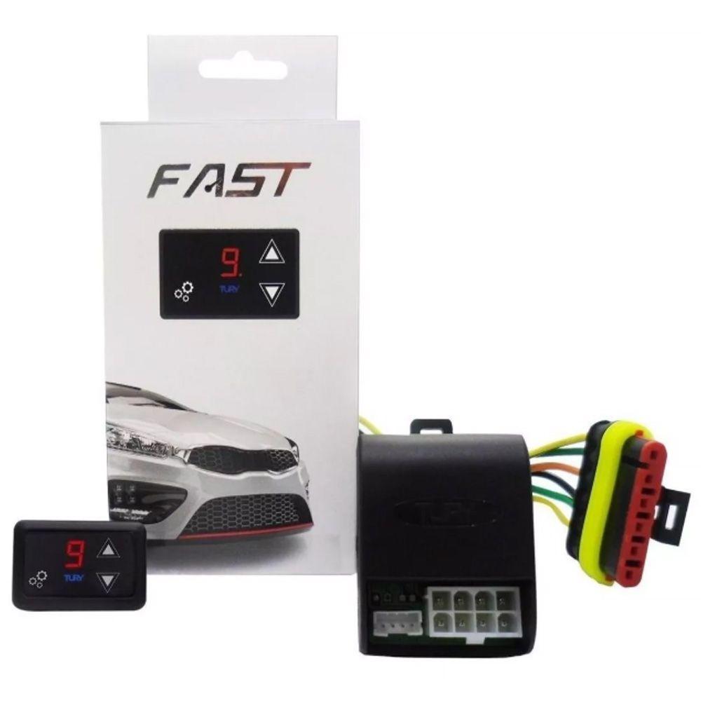 Pedal Fast Tury Reduz Atraso Delay Acelerador Fiat 500 2009 até 2018