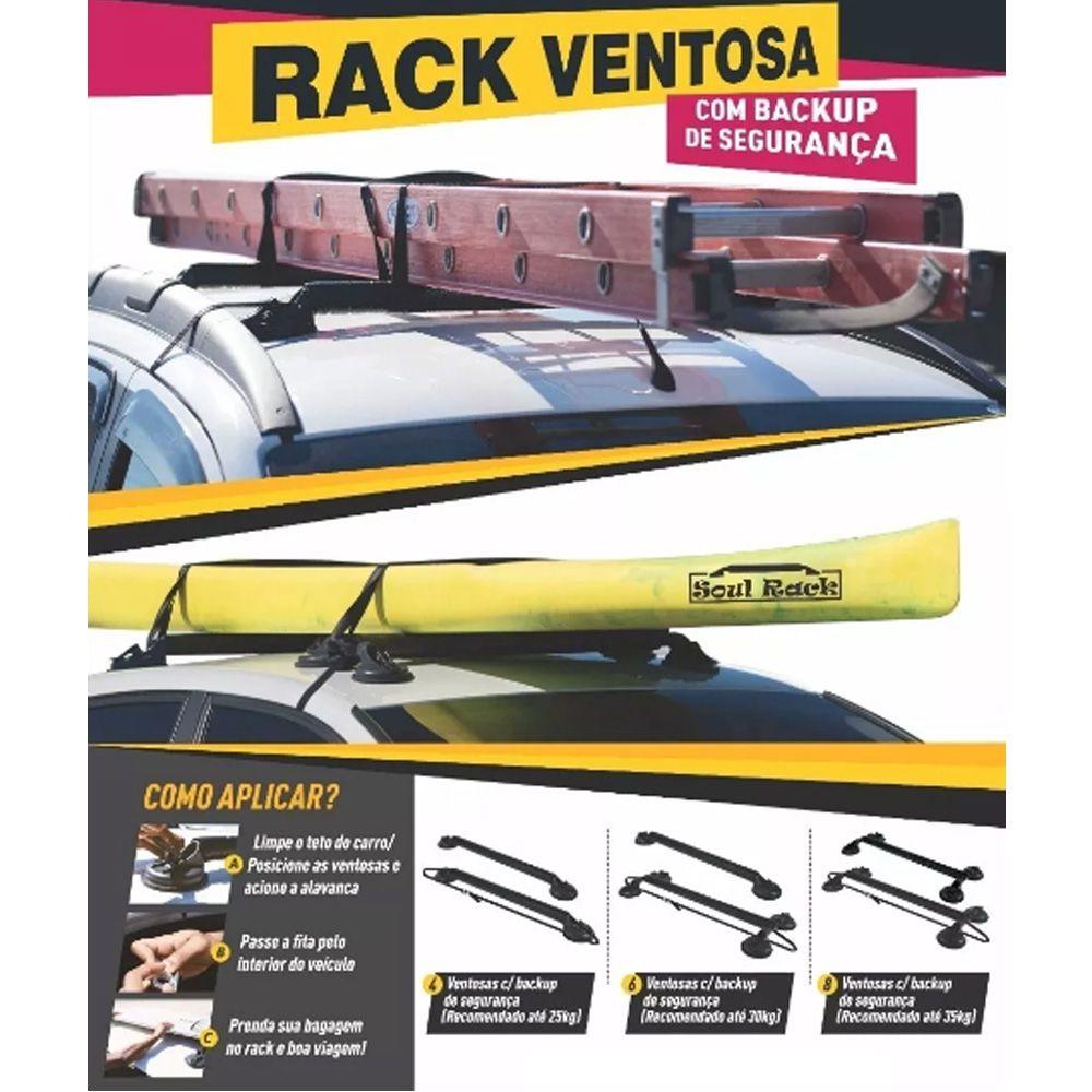 Rack De 8 Ventosas Com 2 Backup De Segurança