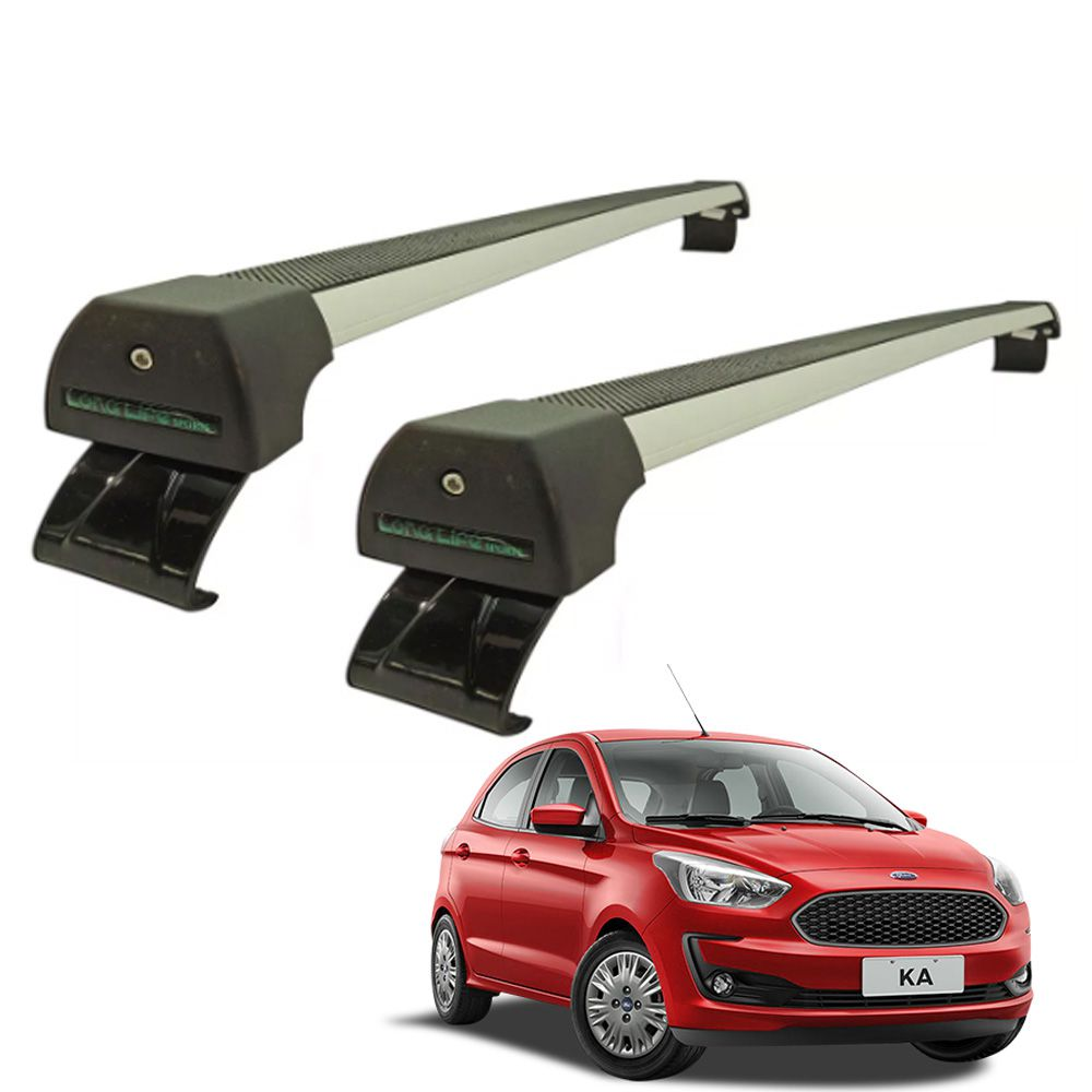 Rack De Teto Long Life Ford Ka Hatch e Sedan 2015 Até 2019