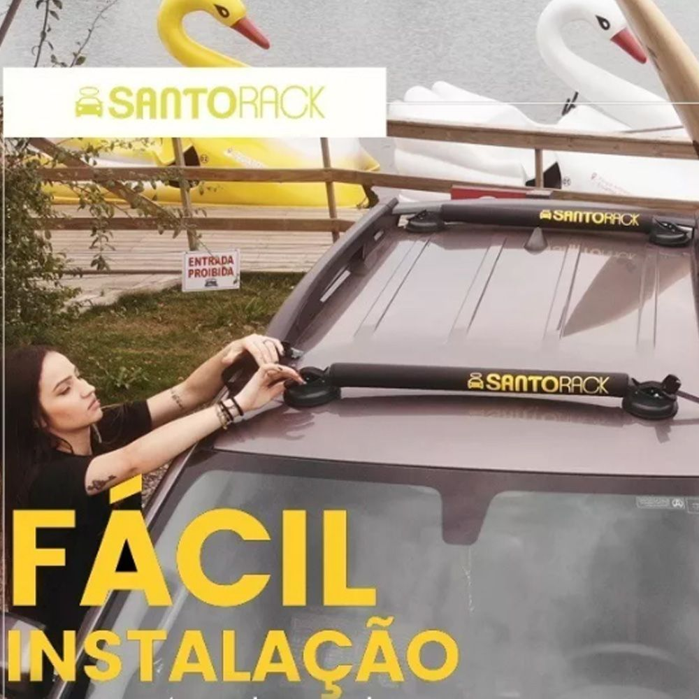 Rack Universal 4 Ventosas Santo Rack Top Fita De Segurança