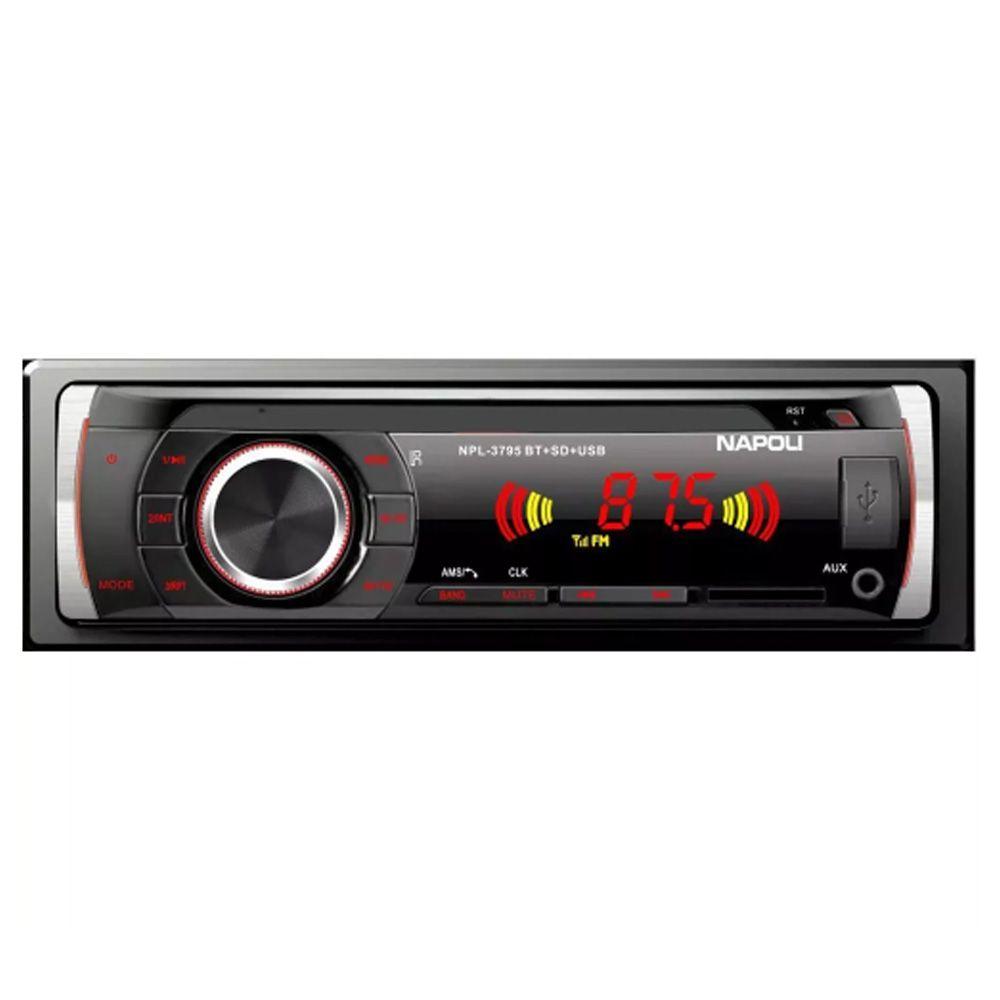 Rádio Napoli P/ Carro Npl-3795bt Usb Sd Card Aux Bluetooth!