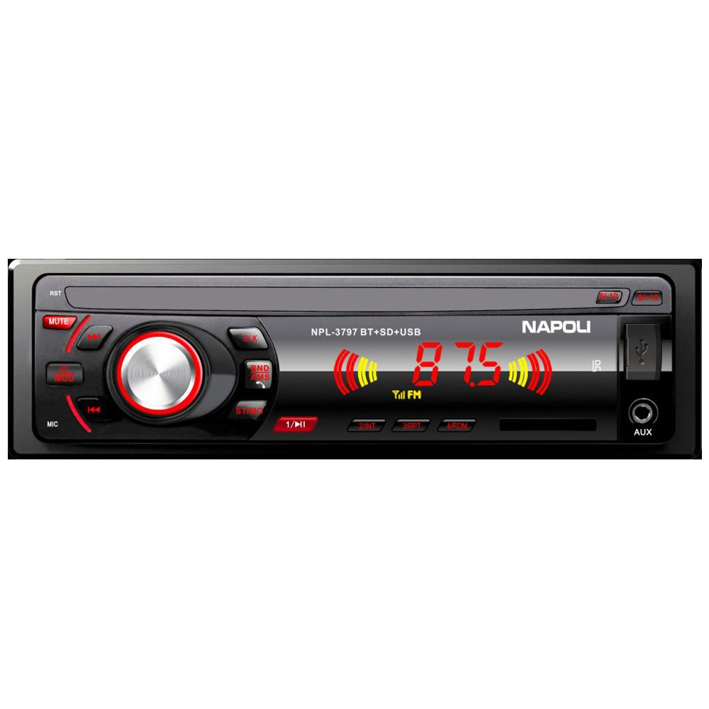 Rádio Napoli P/ Carro Npl-3797bt Usb Sd Card Aux Bluetooth!
