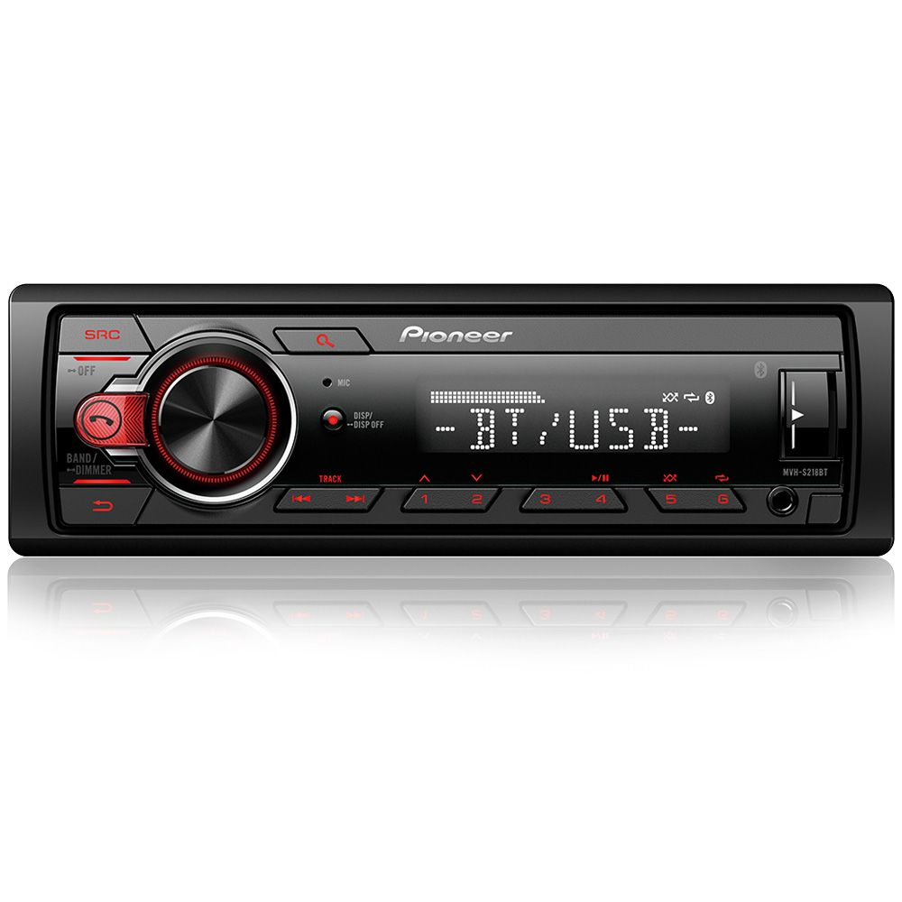 Som Automotivo Pioneer MVH-S218BT - Bluetooth, USB, AUX, Rádio AM/FM