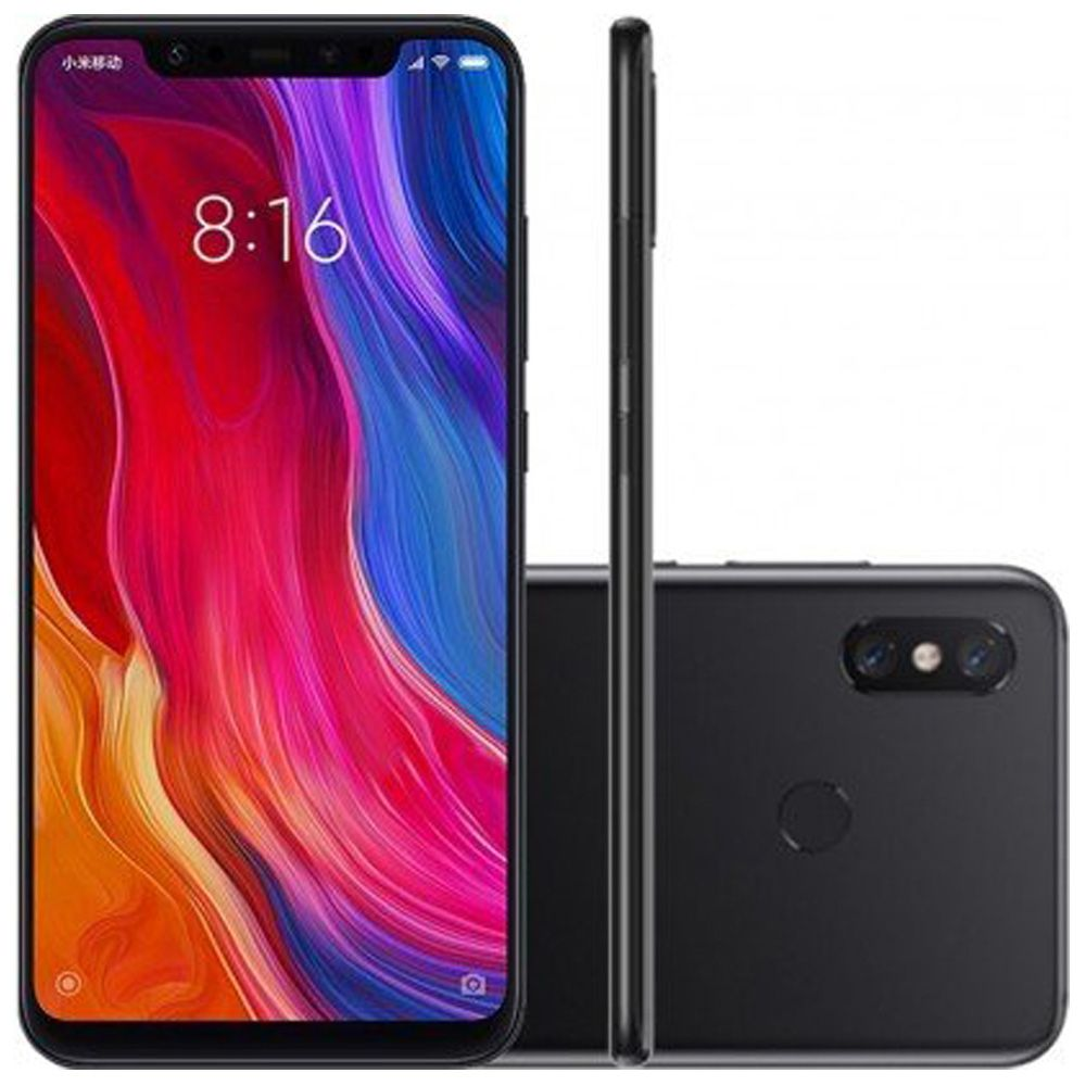 Xiaomi Mi 8 64gb 6gb Ram Dual Cam 12mp Preto Mi8