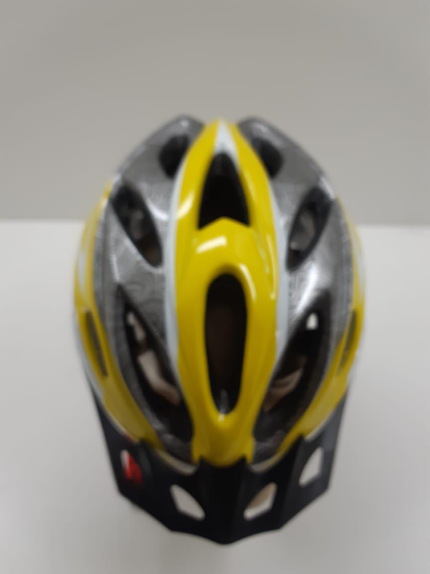 Capacete GTS Com Regulagem e Led Amarelo