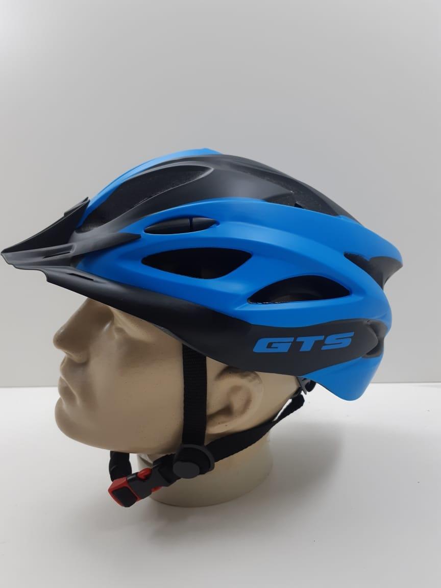 Capacete GTS Com Regulagem e Led Azul