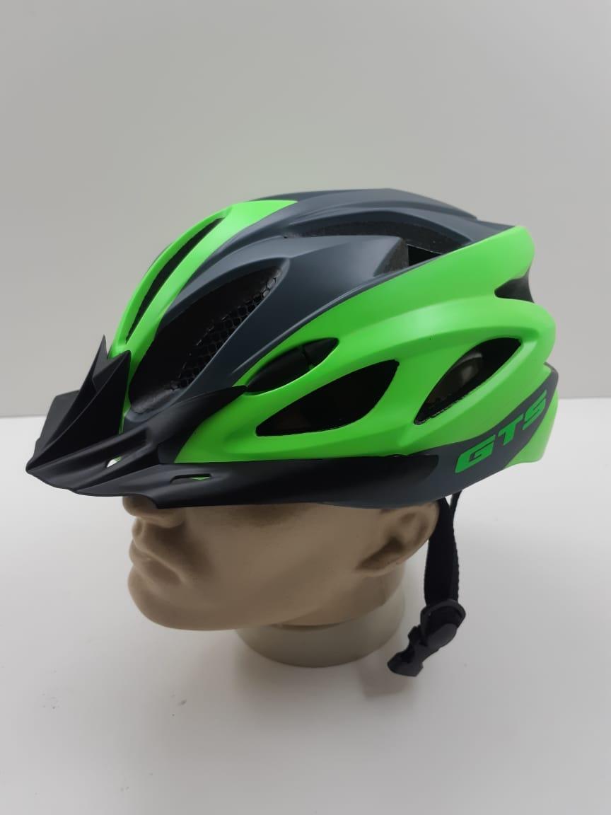 Capacete GTS Com Regulagem e Led Verde