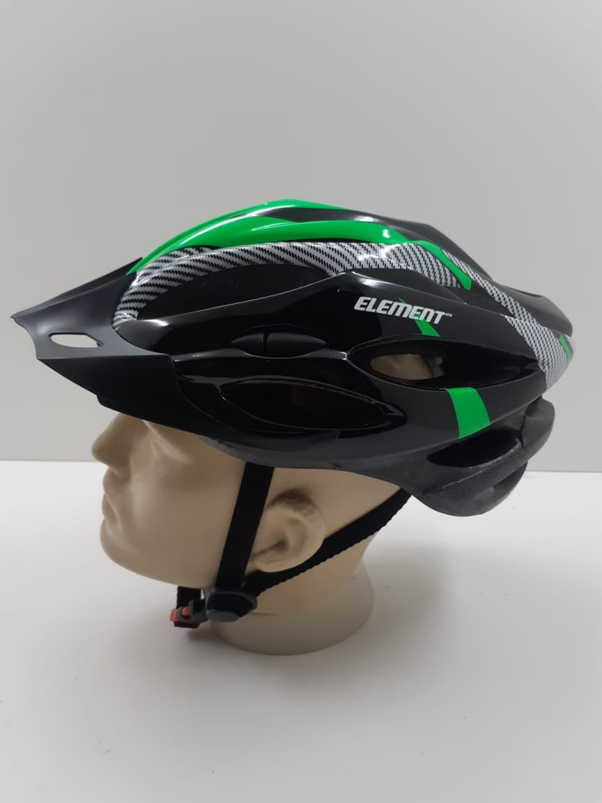 Capacete Element Com Regulagem e Led Verde