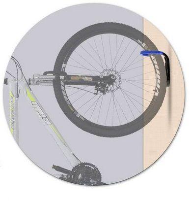 Suporte Vertical De Parede Para 1 Bicicleta Azul