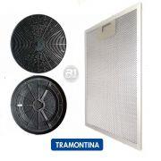 Filtro Carvão + Tela Externa p/ Coifa Tramontina Vetro Original
