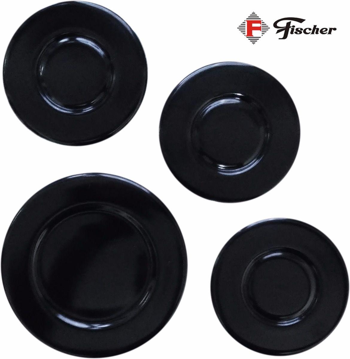 Tampinhas p/ Fogão Cooktop Fischer 4 bocas