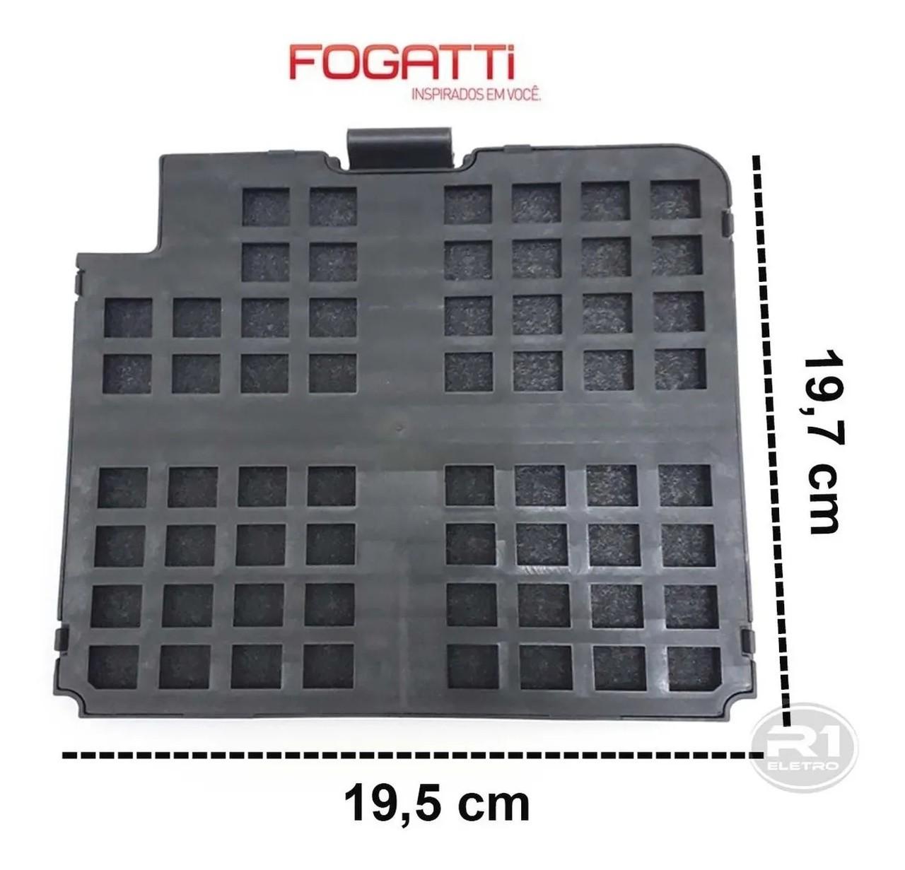 Filtro Carvão Ativado Coifa Fogatti Slim