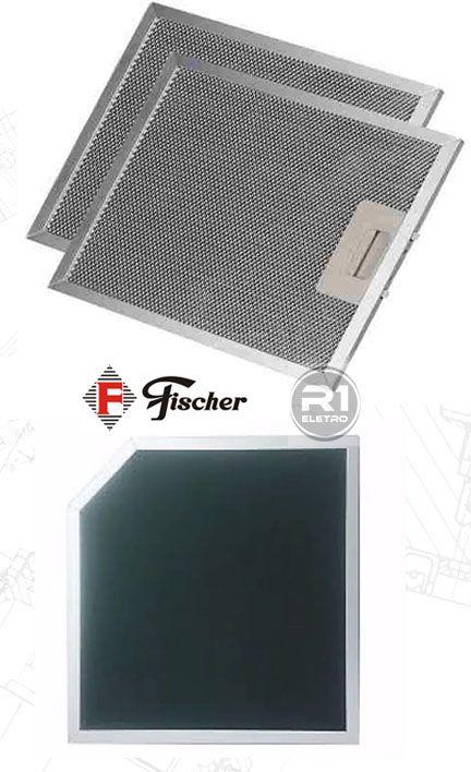 Filtro de Carvão Ativado + Tela Filtrante p/ Coifa Fischer Talent 90