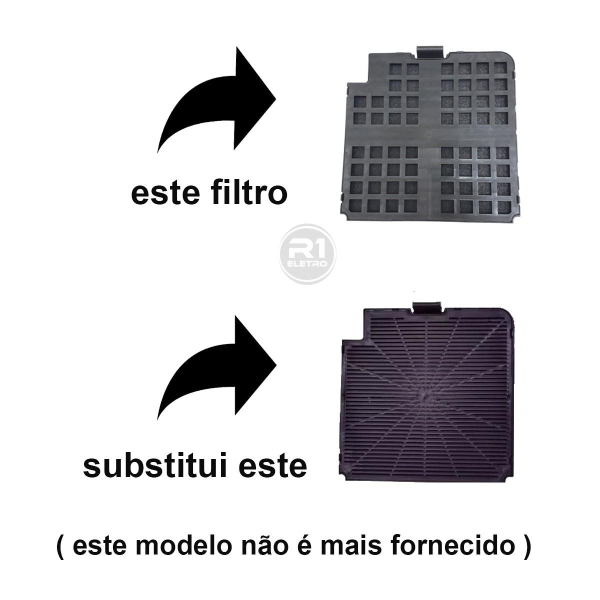 Filtro de Carvão Ativado + Tela Filtrante p/ Coifa Fogatti Slim ( Modelo Novo )