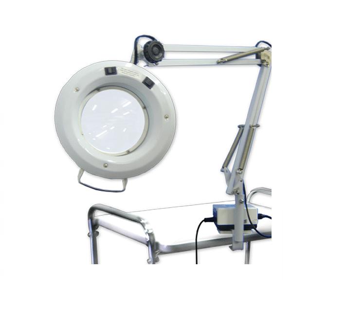 Lupa Articulada Com  Luz De Led - Apoio De Mesa -  Ref. ETK 965