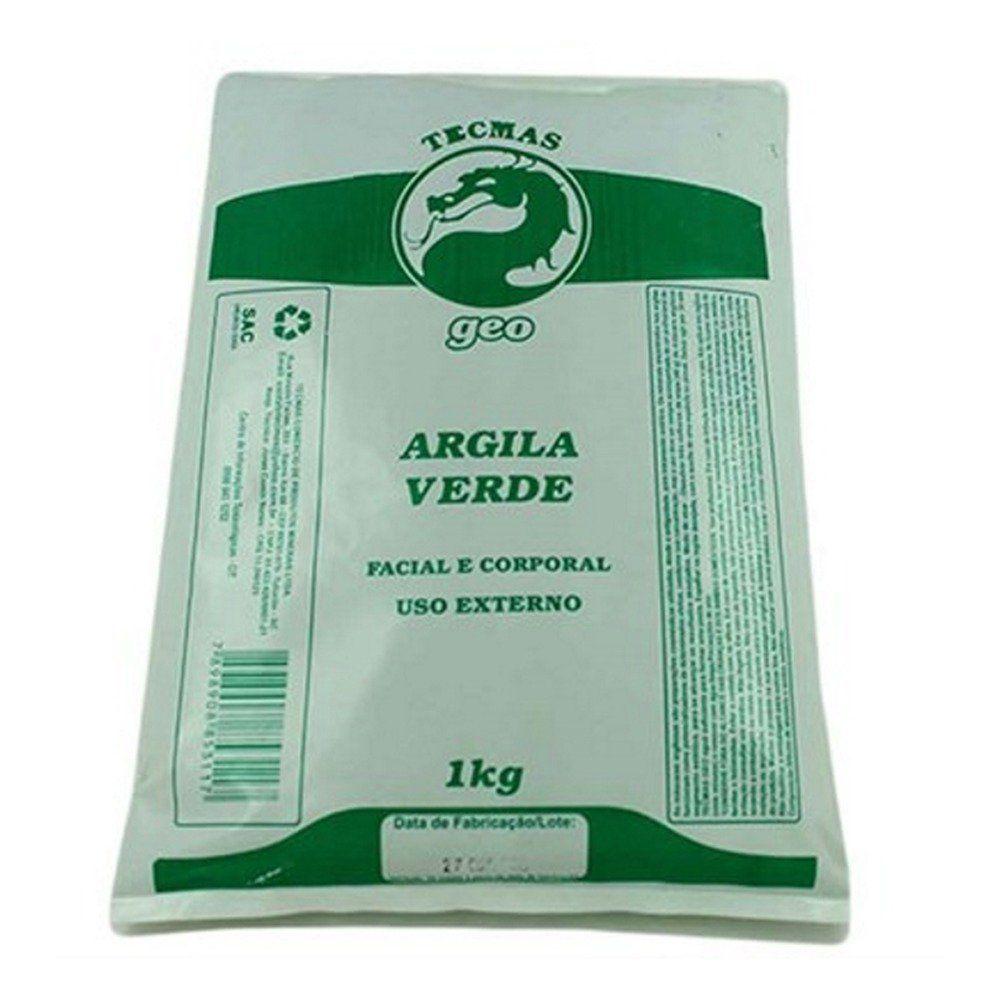 Argila Verde Facial e Corporal Tecmas 1kg